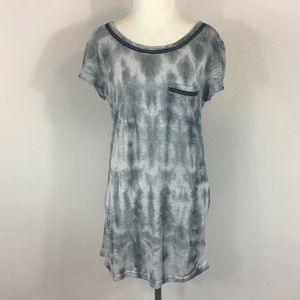 Miss Me Tie Dyed Chain Tunic T Shirt